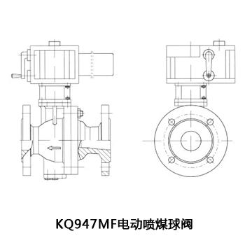KQ947MF 電動噴煤粉球閥
