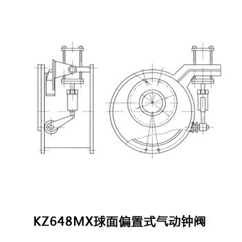 KZ648MX 球面偏置式氣動鐘閥