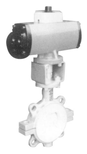 D671F4-1.0 气动衬氟对夹蝶阀